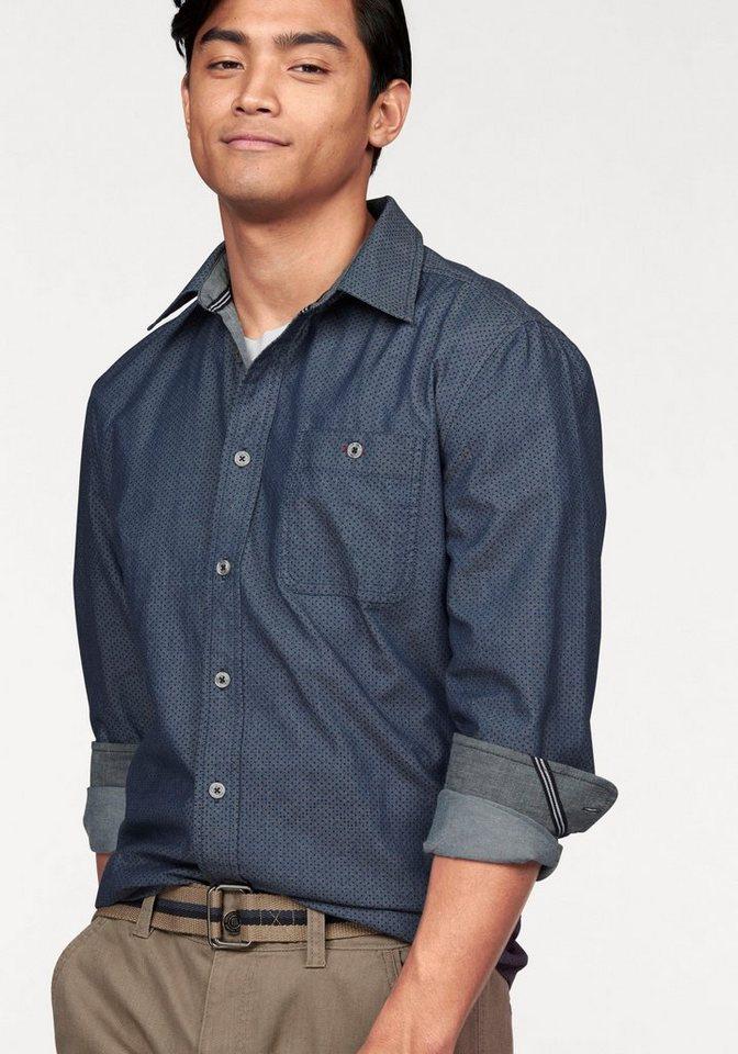 Rhode Island Hemd »Minimals« in dunkelblau-gepunktet