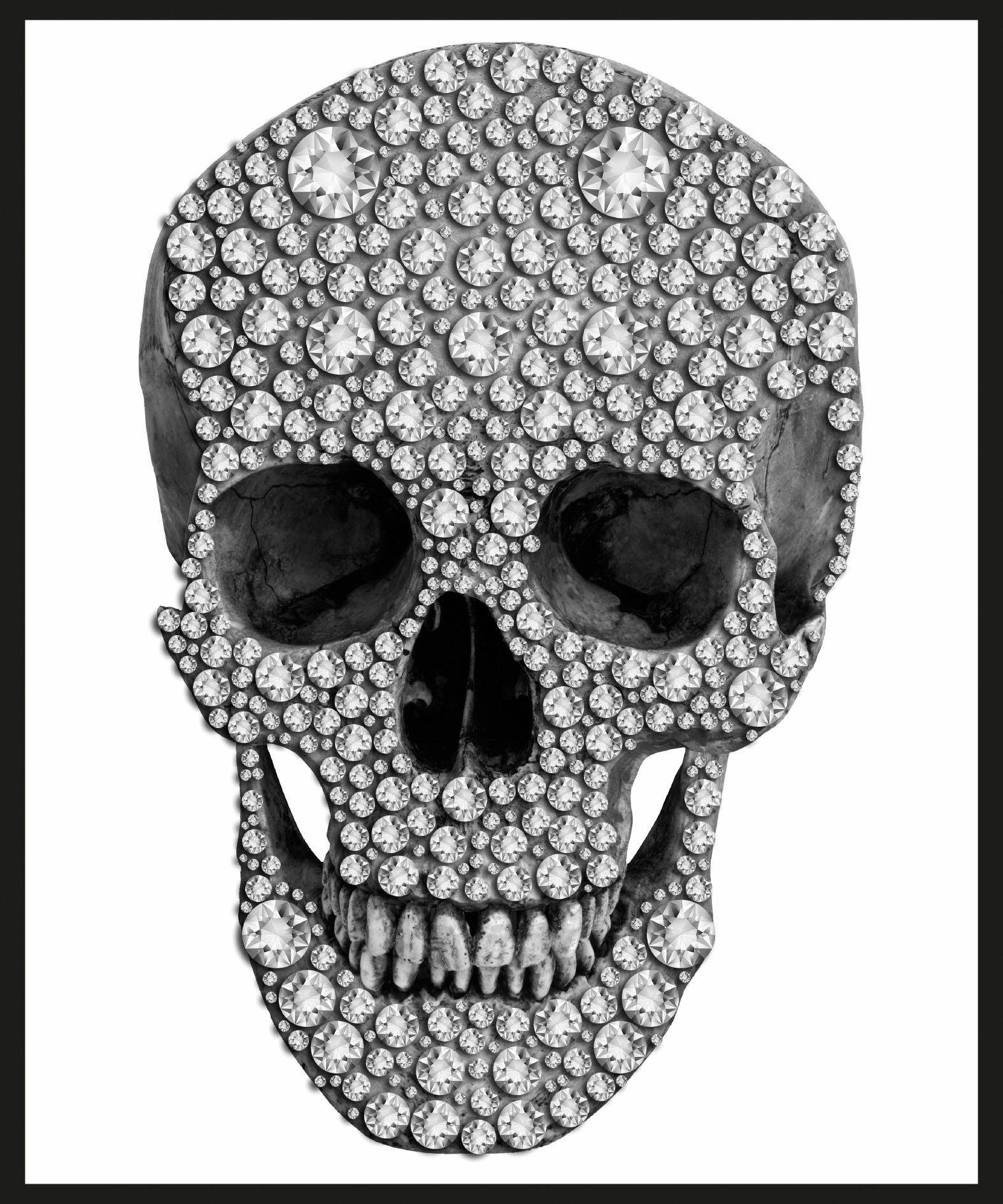 Home affaire Bild »Skull«, 50/60 cm, gerahmt