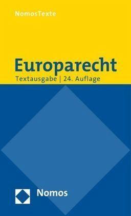 Broschiertes Buch »Europarecht«