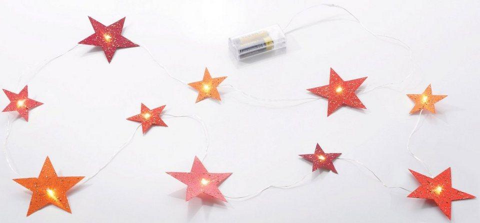 LED Lichterkette, »Sterne« in rot