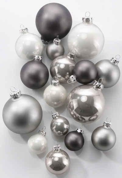 Weihnachtsbaum deko grau
