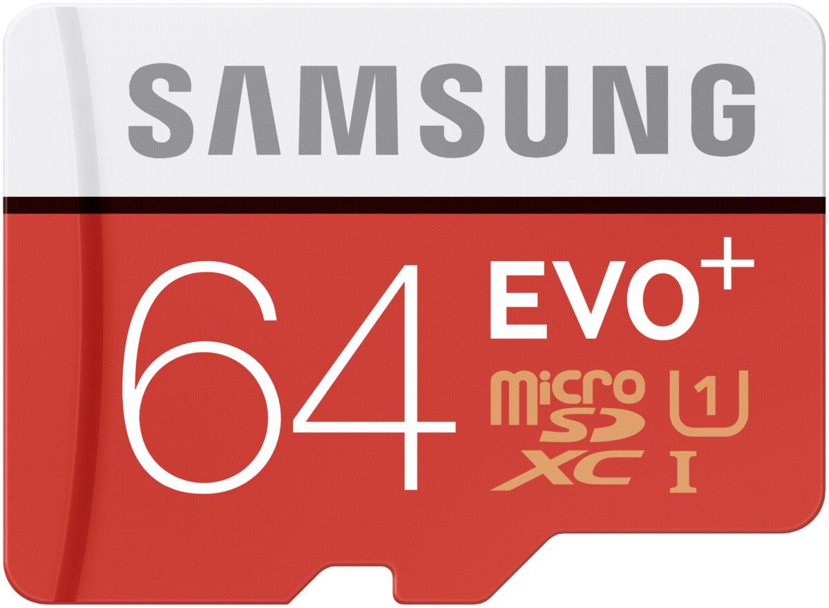 Samsung Speicherkarten »microSDXC Class 10 64GB Evo+ mit Adapter«