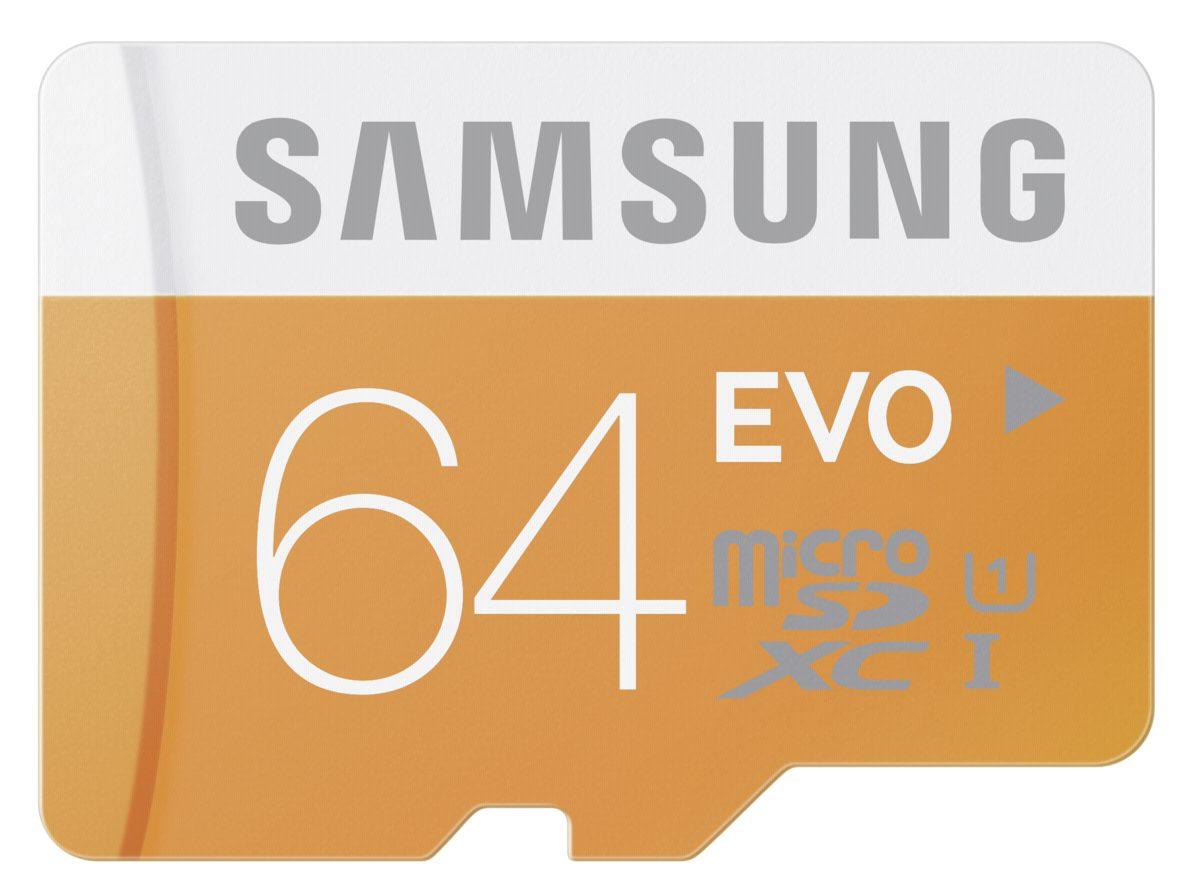 Samsung Speicherkarten »microSDXC Class 10 64GB EVO mit Adapter«