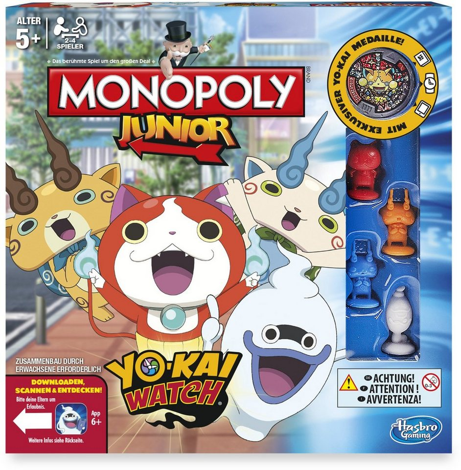 Hasbro Kinderspiel, »Monopoly Junior, Yo-Kai Watch«