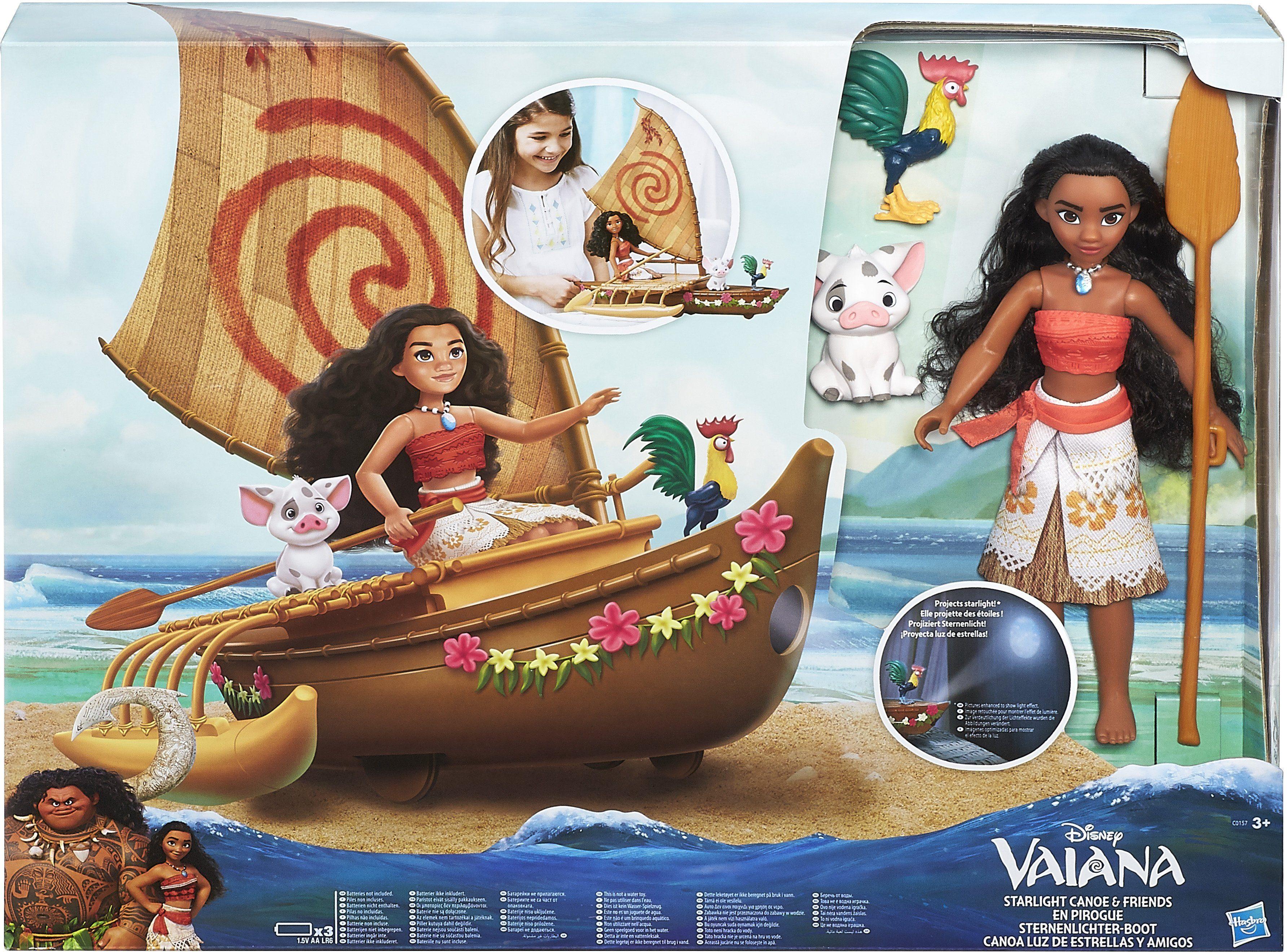 Hasbro Spielfigur, »Vaiana Sternenlichter-Boot mit Spielfiguren«