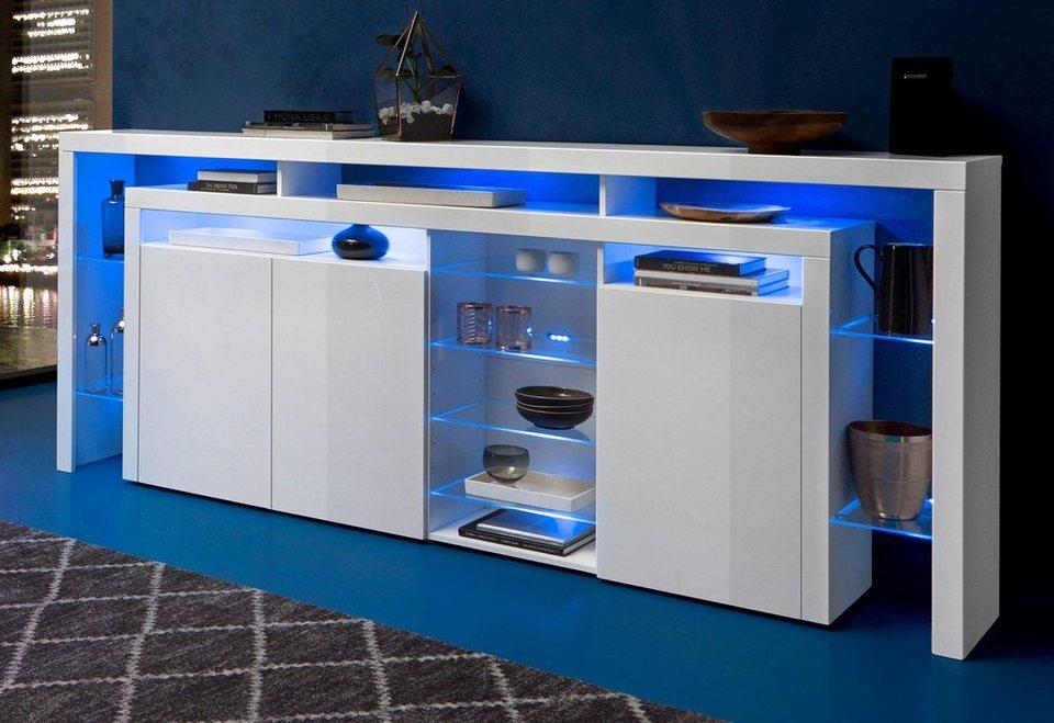 highboard breite 253 cm online kaufen otto. Black Bedroom Furniture Sets. Home Design Ideas