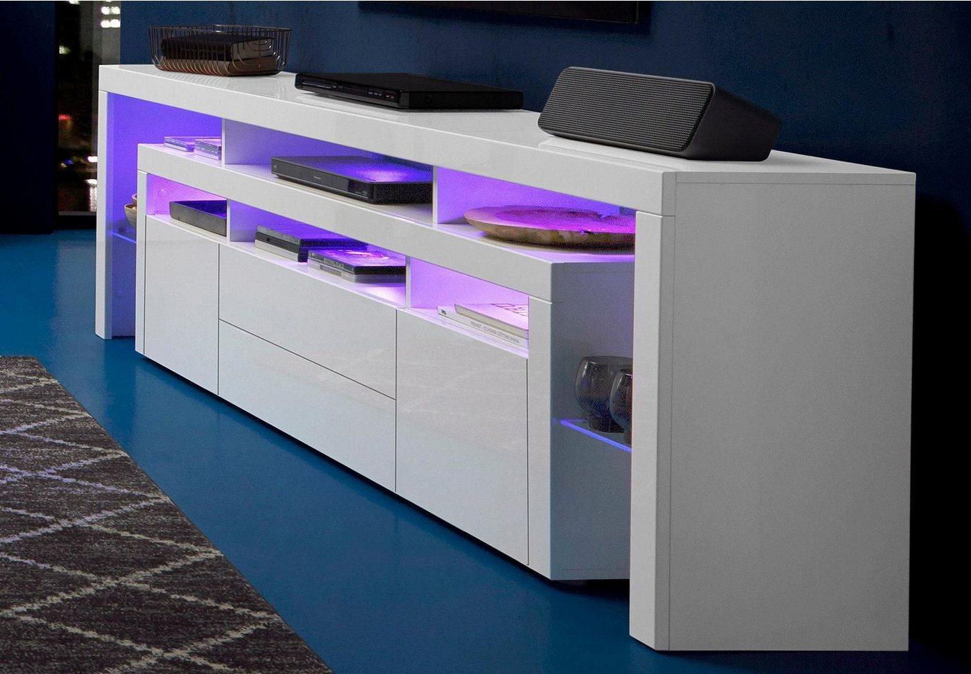 lowboard weiss hochglanz 220 preisvergleiche erfahrungsberichte und kauf bei nextag. Black Bedroom Furniture Sets. Home Design Ideas