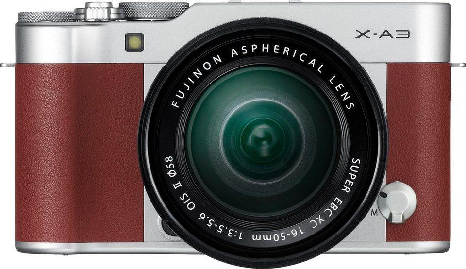 FUJIFILM X-A3 System Kamera, FUJINON XC16-50mm F3.5-5.6 OIS II Zoom, 24,2 Megapixel in braun
