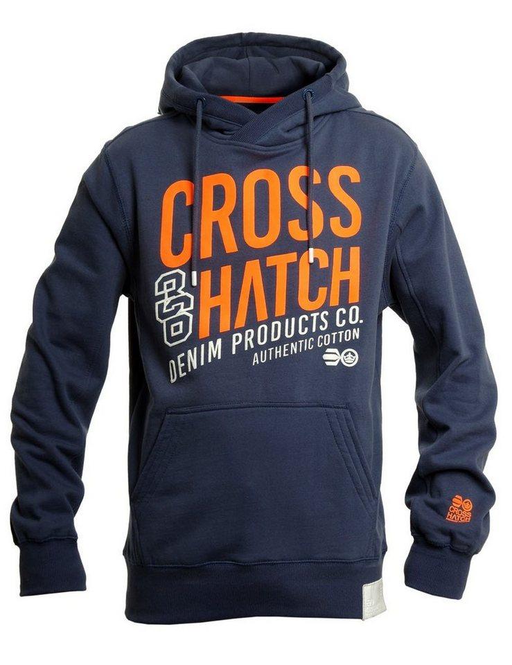 CROSSHATCH Sweatshirt »Matadors« in blau
