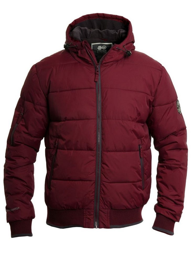 CROSSHATCH Steppjacke »Awesent« in weinrot-bordeaux