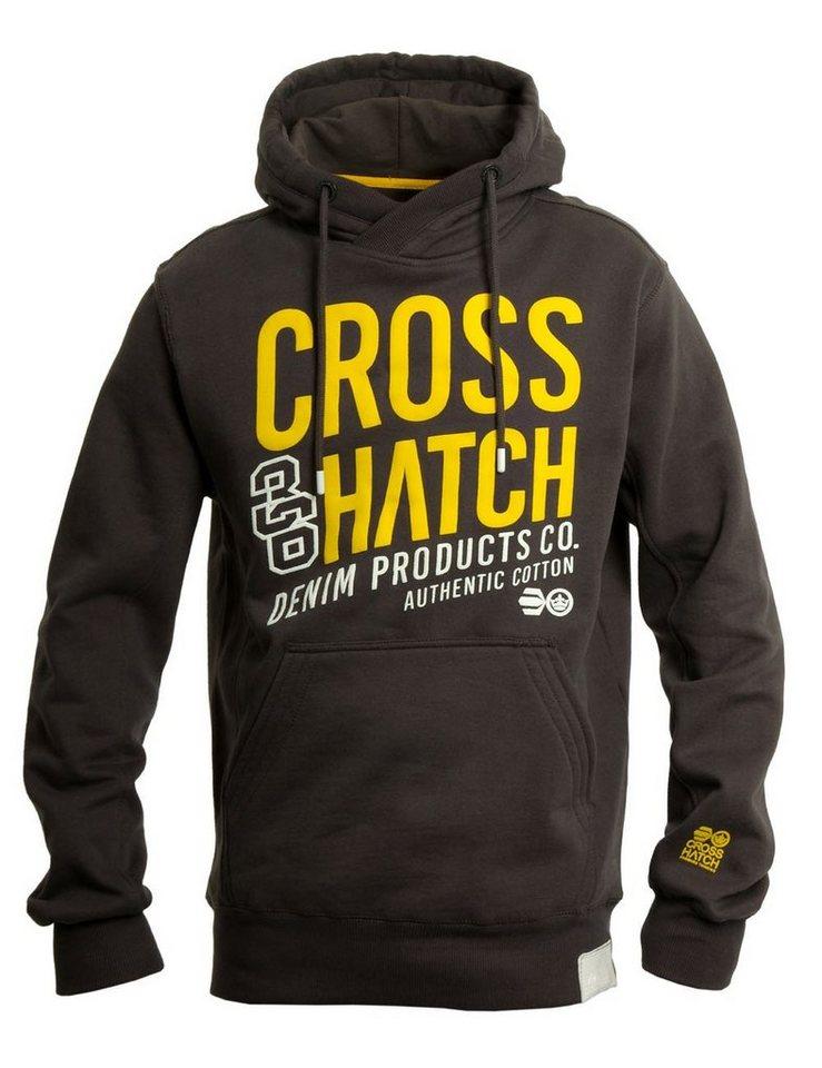 CROSSHATCH Sweatshirt »Matadors« in dunkelgrau