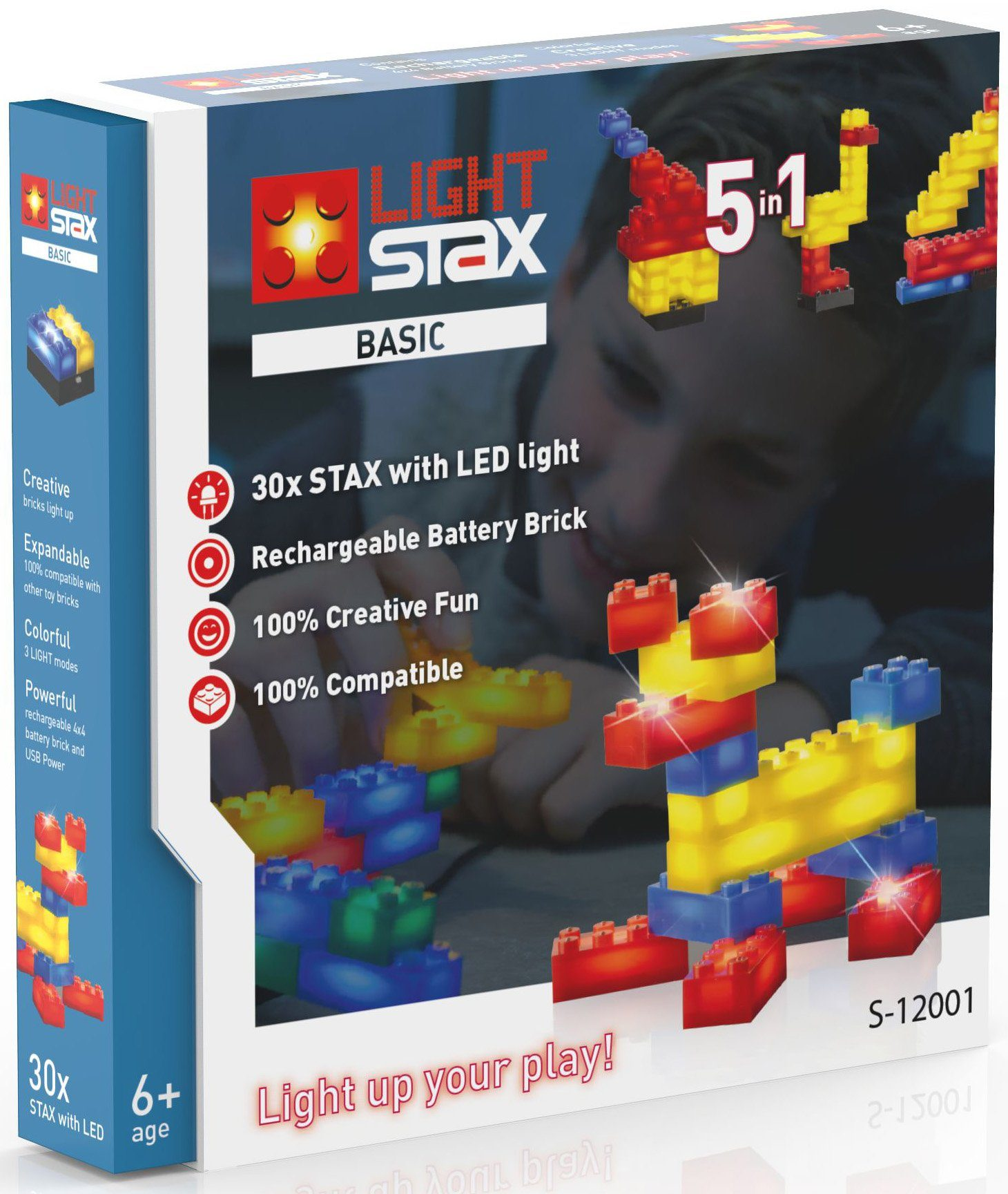 LIGHT STAX® Leuchtbausteine inkl. Mobiler Power Stax, »Basic 5in1 - S-12001«