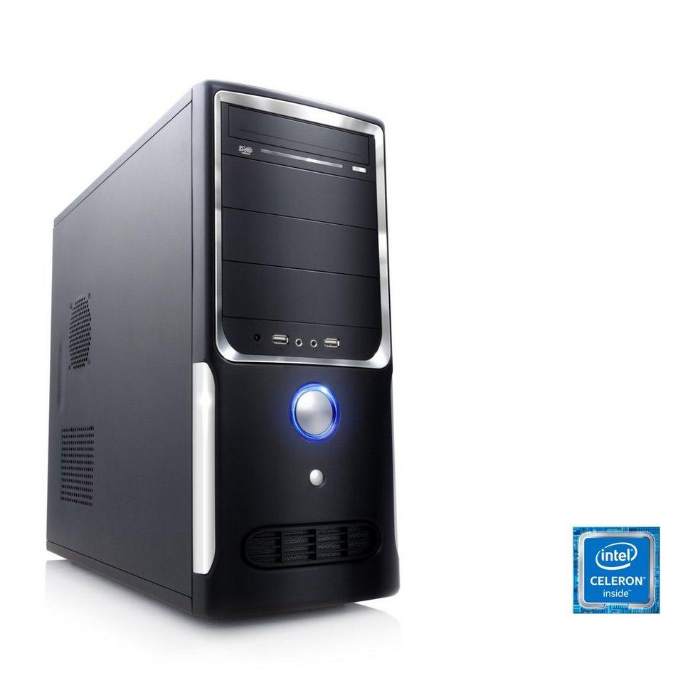 CSL Office PC | Intel QuadCore | Intel HD Graphic | 4 GB RAM | WLAN »Speed T1414 Windows 10 Pro« in schwarz