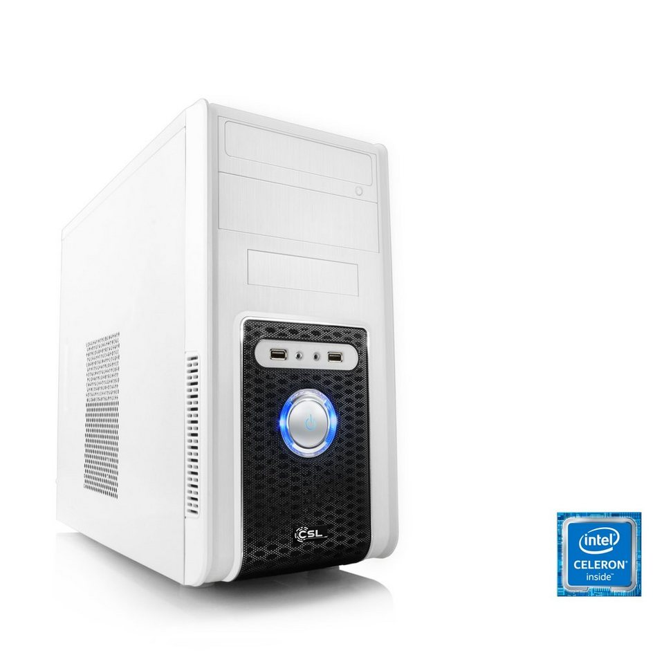 CSL Office PC | Intel QuadCore | Intel HD Graphic | 4 GB RAM »Speed T1419 Windows 10 Home« in weiß