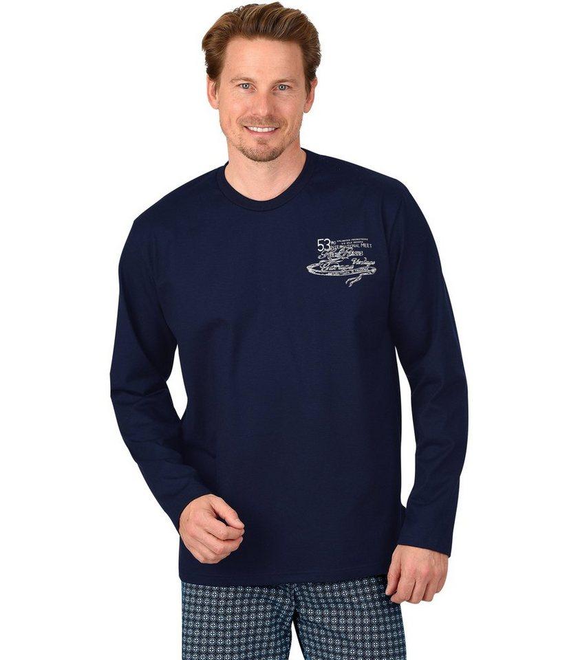 TRIGEMA Langarm-Shirt in navy