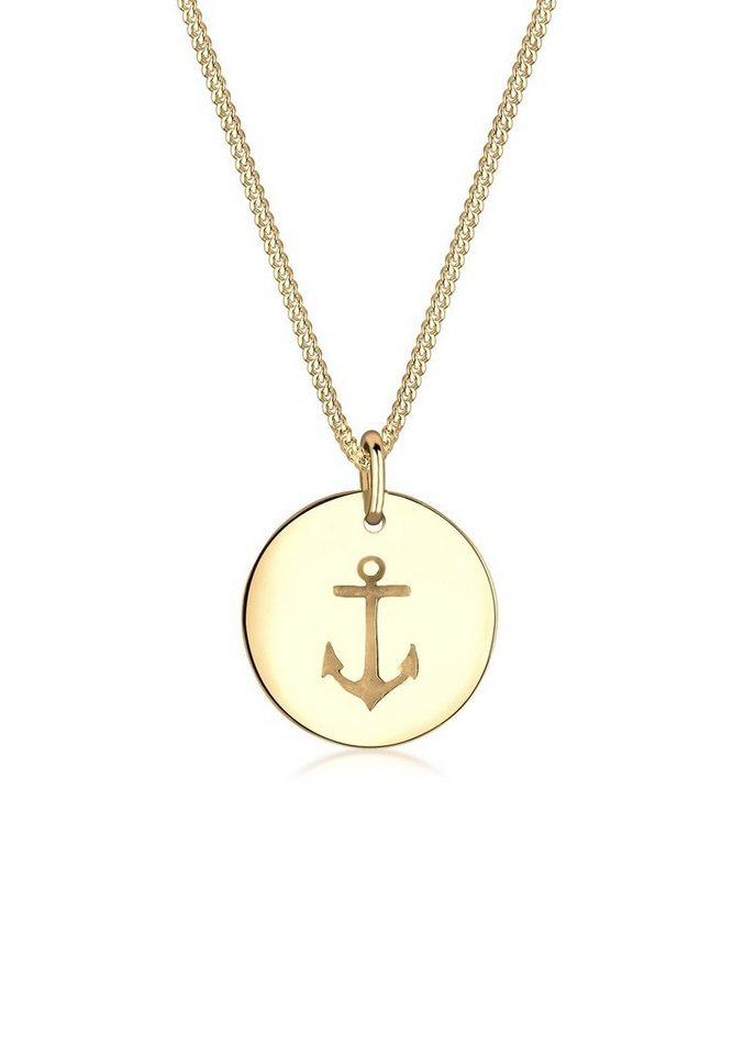 Elli Halskette »Anker Meer 925 Sterling Silber« in Gold