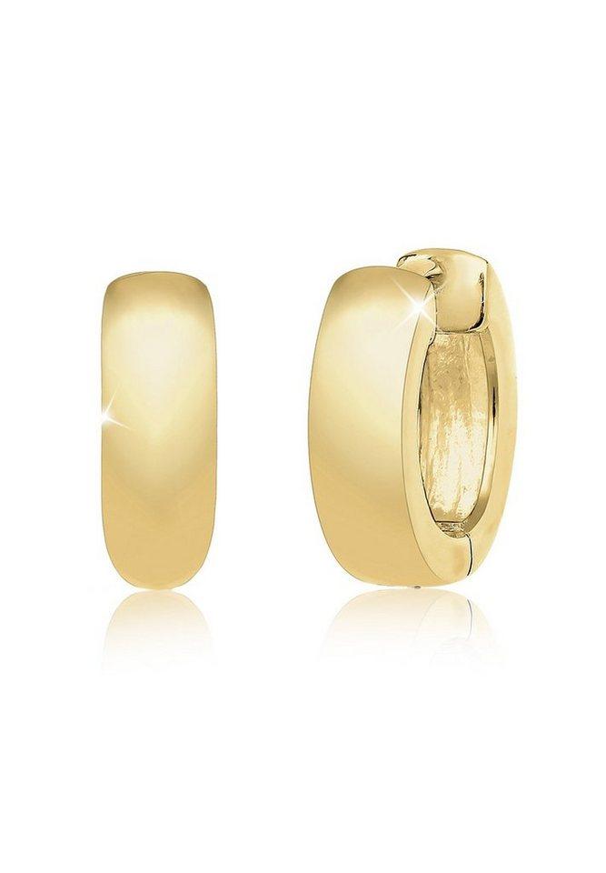 Elli Ohrringe »Creolen Basic Klassisch Edel 375 Gelbgold« in Gold