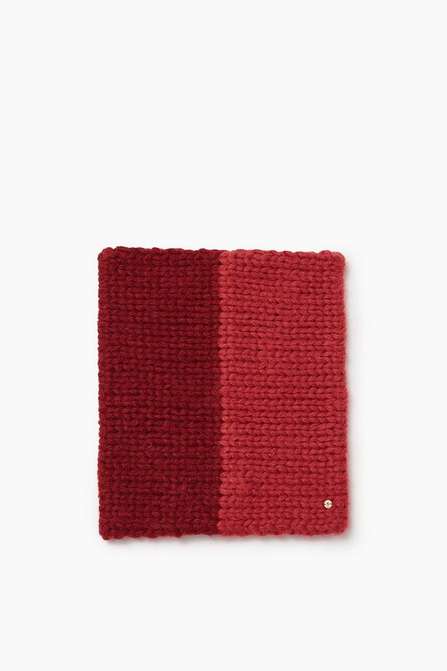 EDC Weicher Loop-Schal aus Grobstrick in BORDEAUX RED