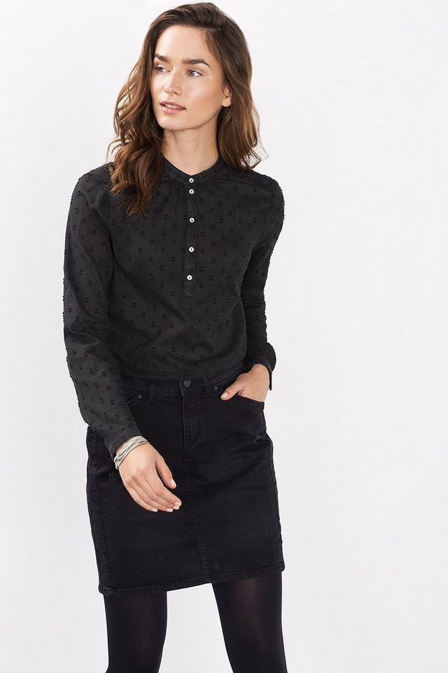 ESPRIT CASUAL Hauchzarte Pünktchen-Bluse in BLACK