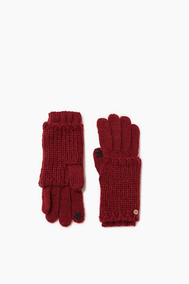 EDC 2in1 Touchscreen Handschuhe in BORDEAUX RED