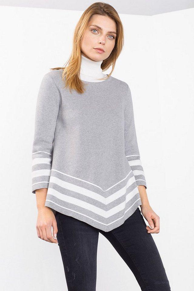 ESPRIT COLLECTION Poncho-Sweater aus Baumwolle in MEDIUM GREY
