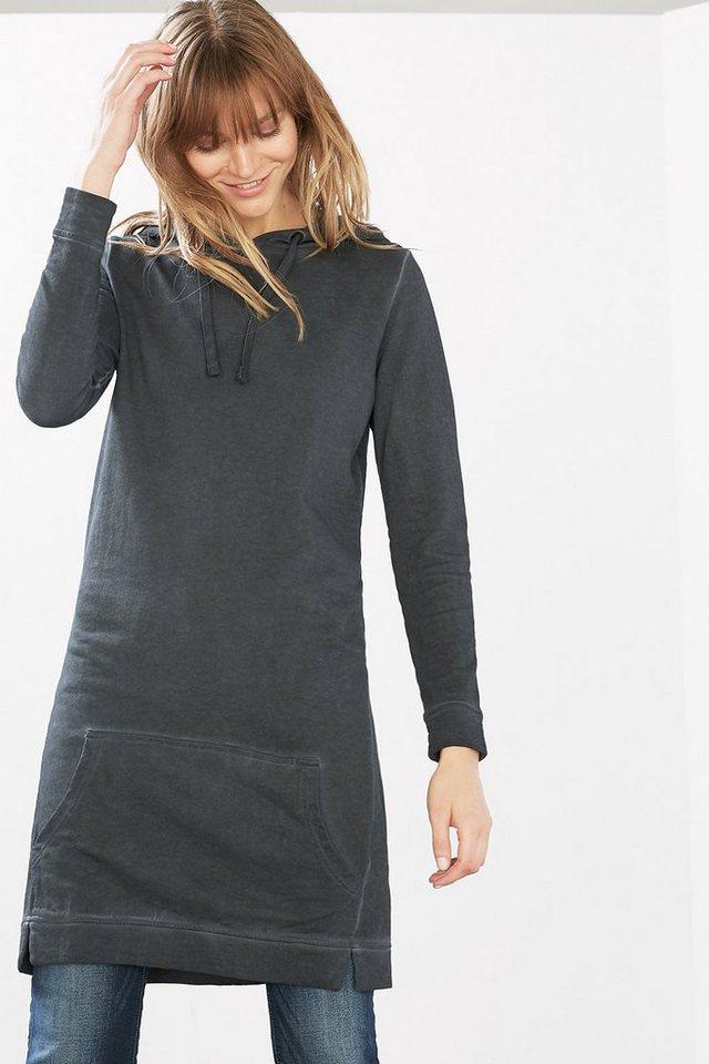 EDC Sweatkleid aus 100% Baumwolle in DARK GREY