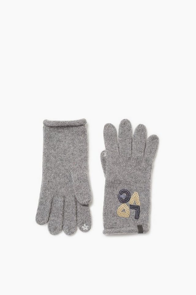 ESPRIT CASUAL Touchscreen Handschuhe mit Pailletten in GREY