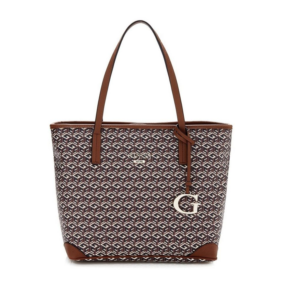Guess Logo-Shopper G Cube in Mocha