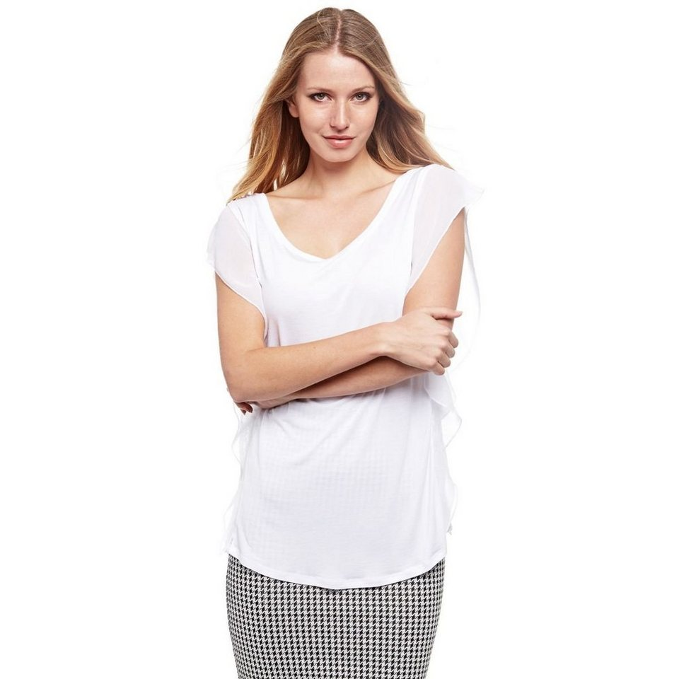 Guess SHIRT VOLANT SPITZE in Weiß