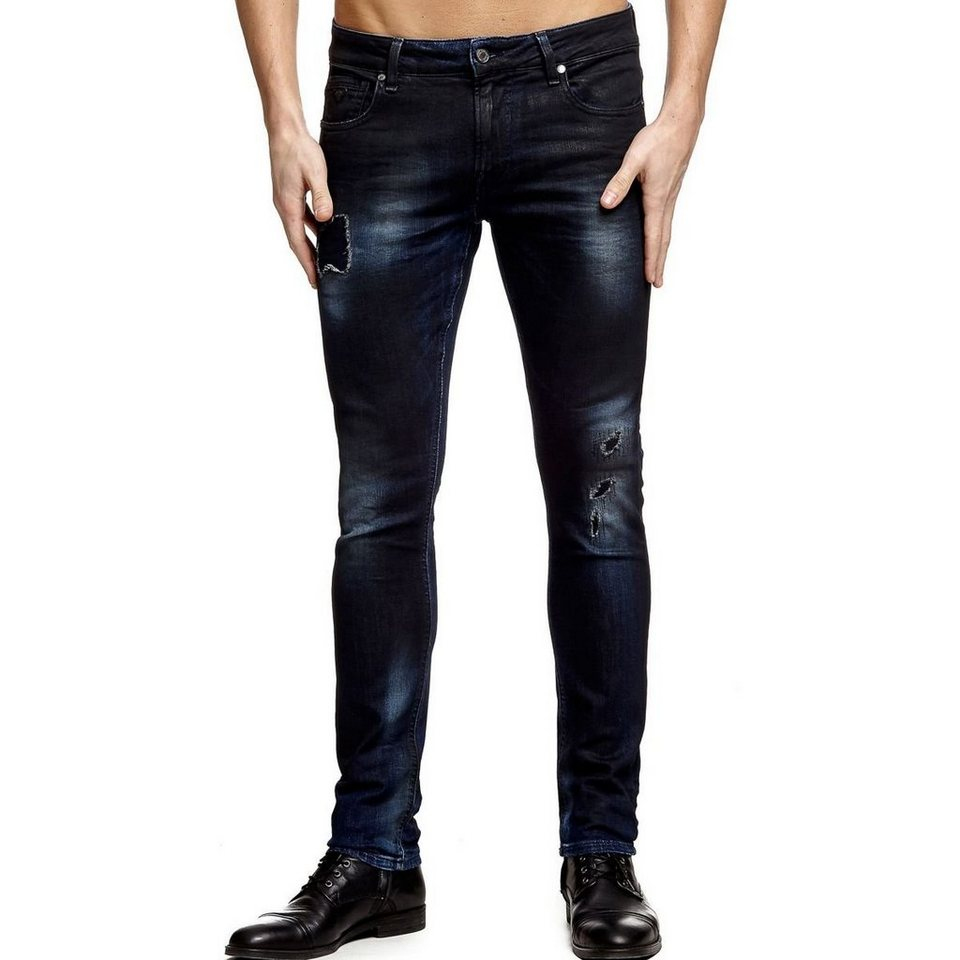 Guess JEANS SUPERSKINNY FLICKEN in Blau