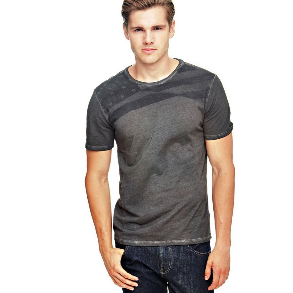 Guess T-SHIRT FLAGGE in Schwarz