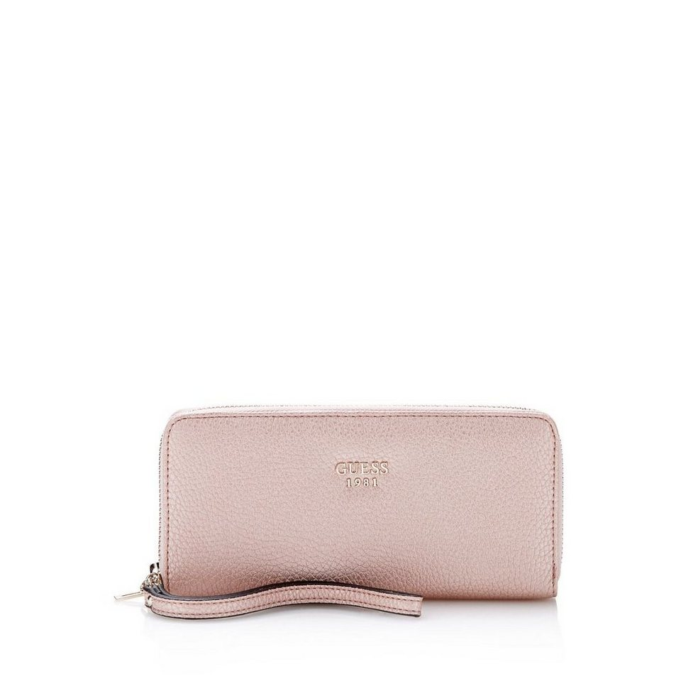 Guess GROSSES PORTEMONNAIE CATE in Rose