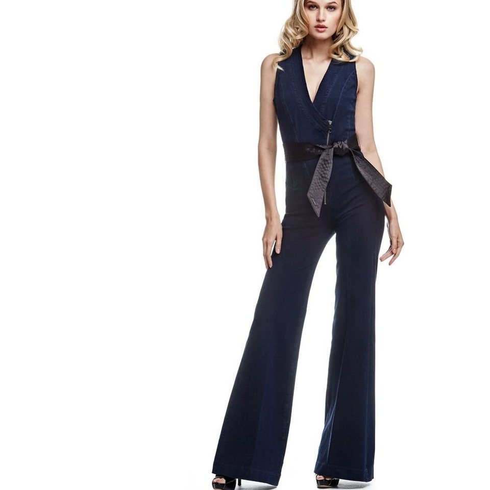 Guess JEANSJUMPSUIT GÜRTEL 4WAY STRETCH in Schwarz