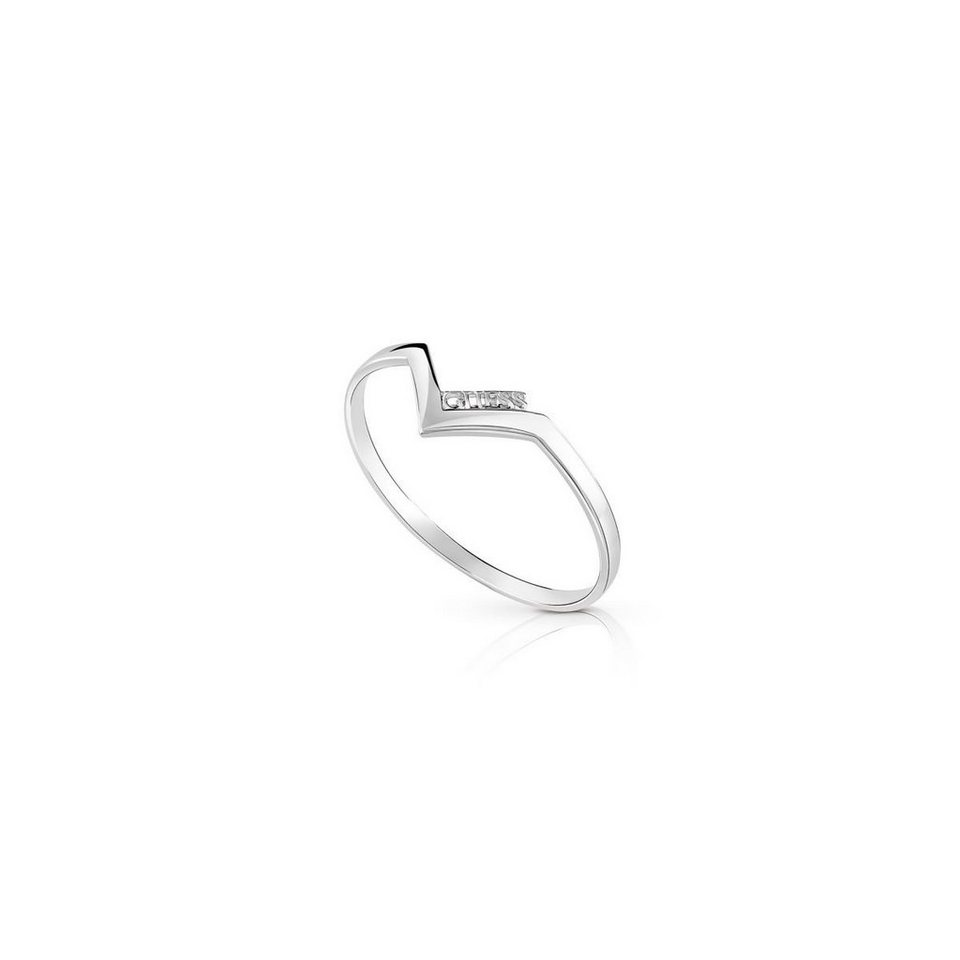 Guess ARMBAND TRIOMETRIC RHODINIERT in Silber