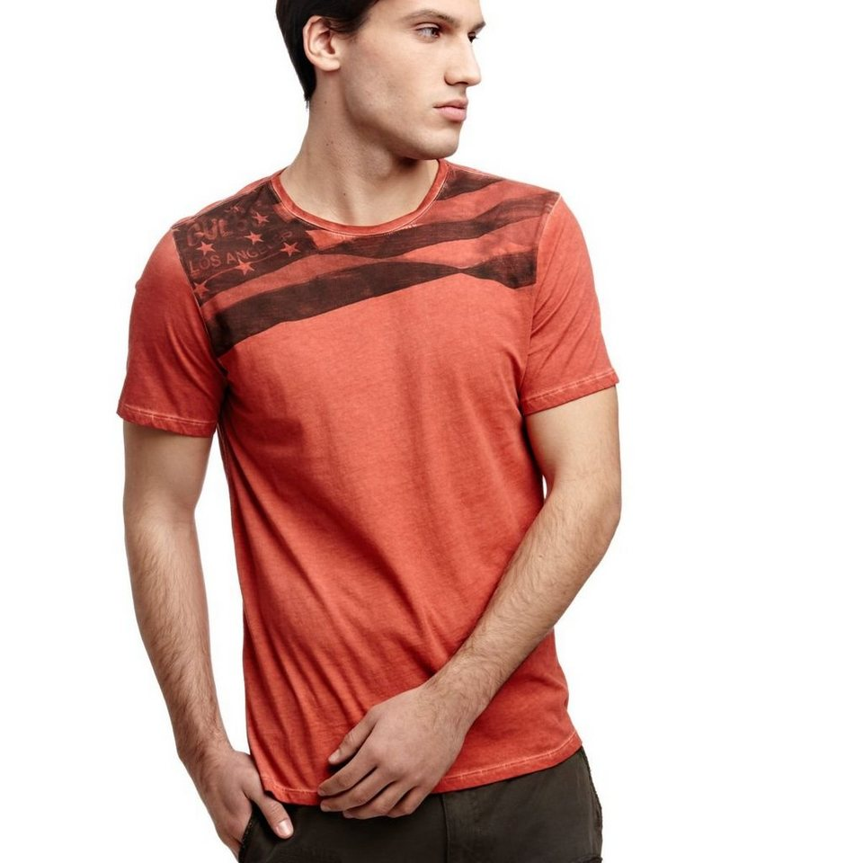 Guess T-SHIRT FLAGGE in Rot