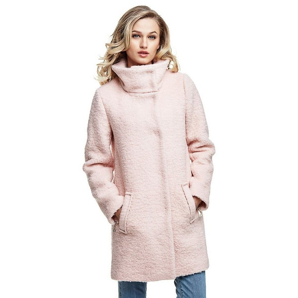 Guess LANGER MANTEL WOLLE in Rose