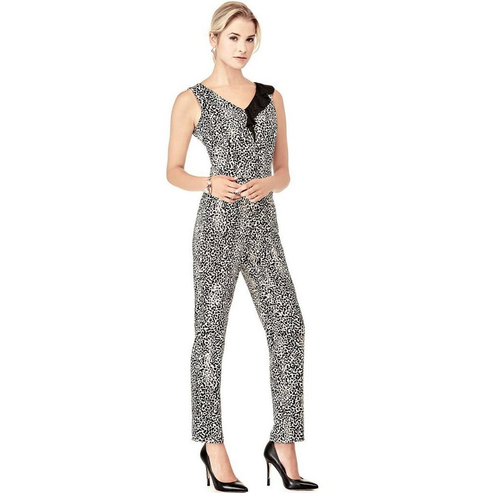 Guess JUMPSUIT LEOPRINT in Animalier