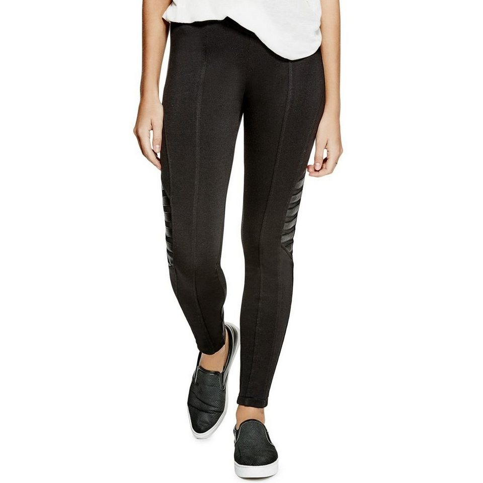 Guess LEGGINGS SPITZENDETAIL in Schwarz