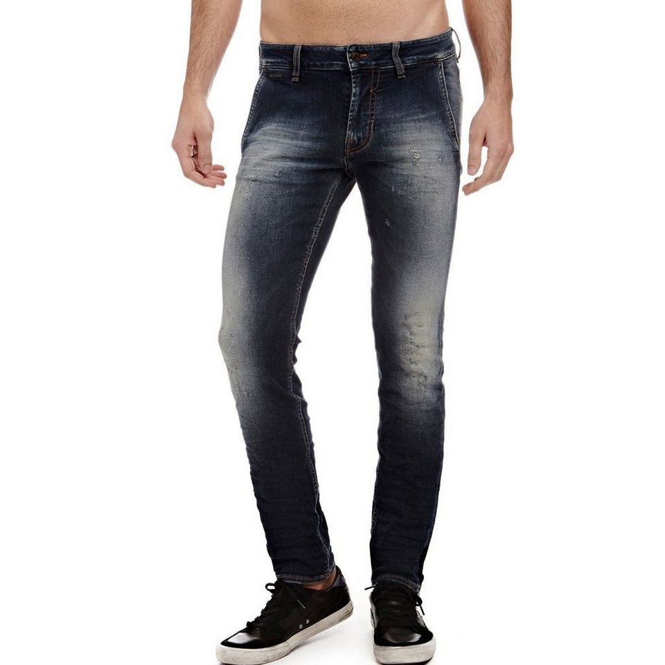 Guess CHINOJEANS SUPERSKINNY in Blau