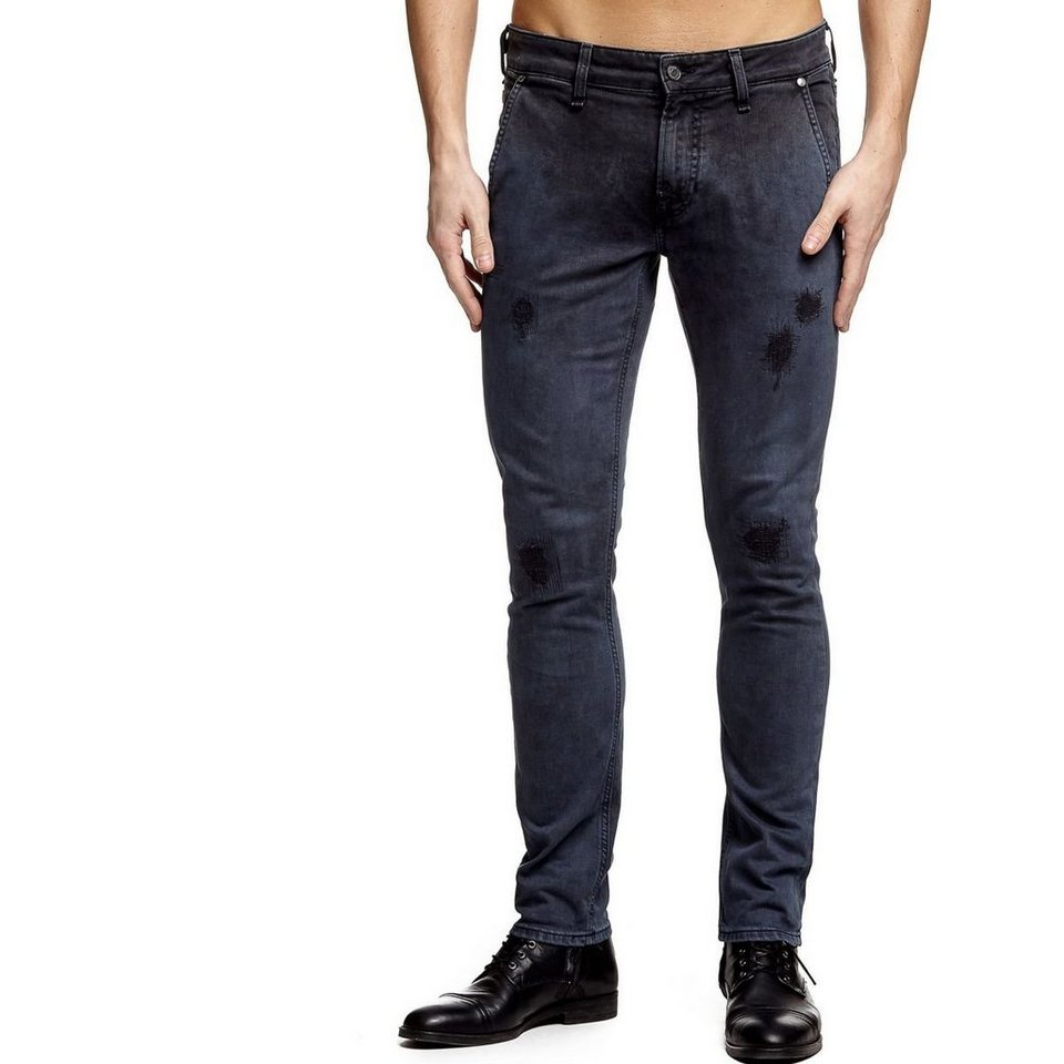 Guess CHINOJEANS SUPERSKINNY MALTINTO in Blau