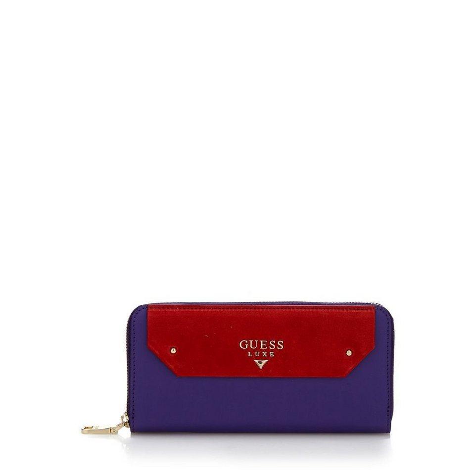Guess PORTEMONNAIE MAELLE AUS LEDER in Violett