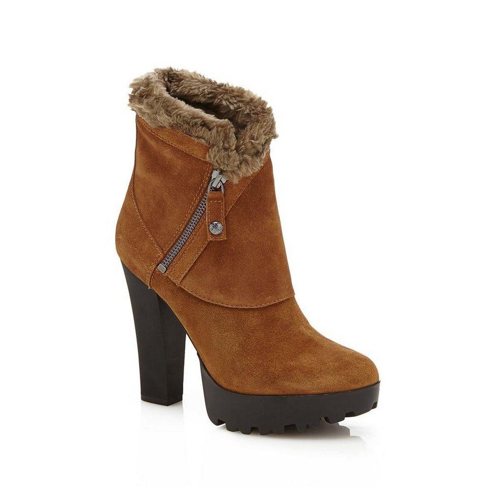 Guess ANKLE BOOT CLANCI VELOURSLEDER in Braun