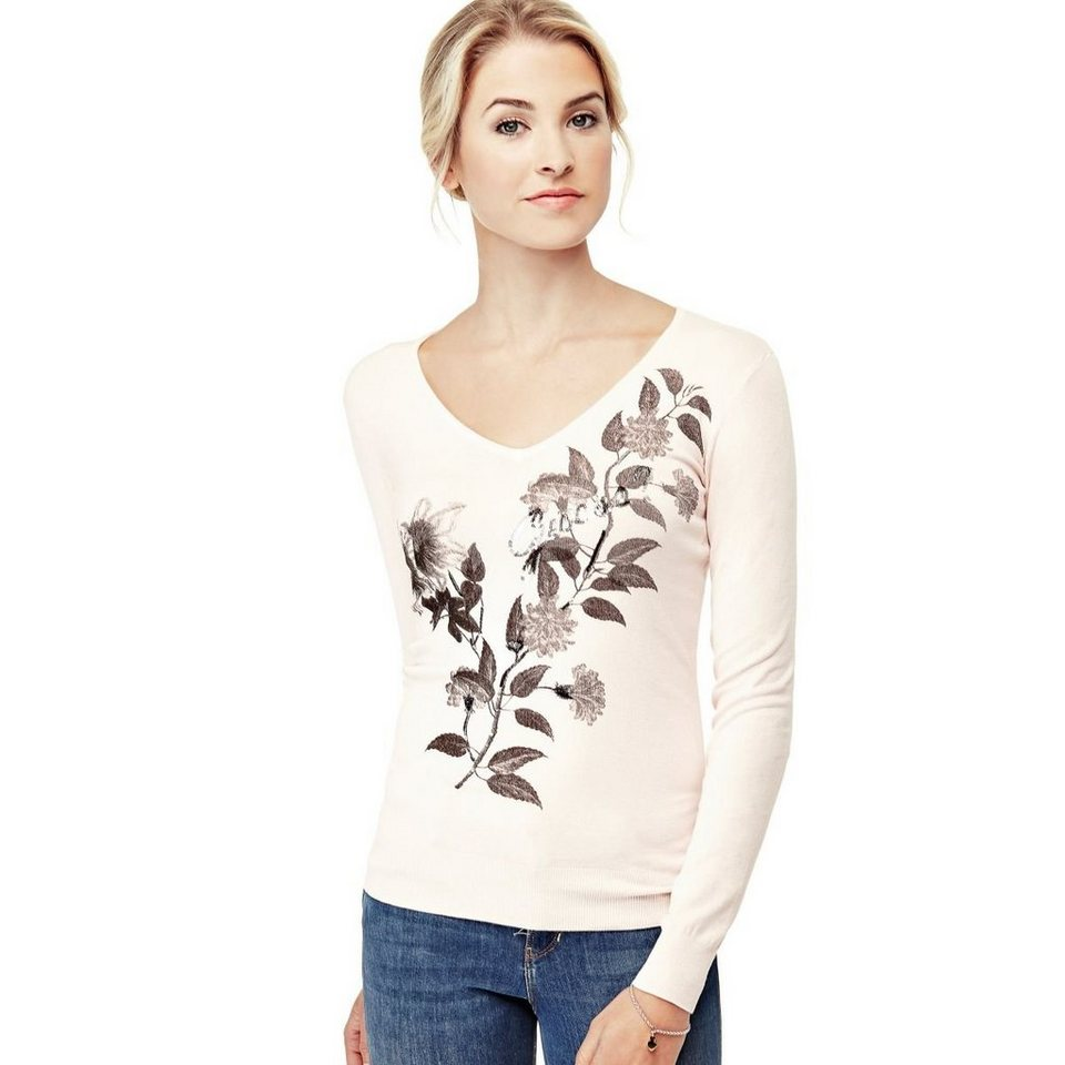 Guess PULLOVER BLUMEN in Rose