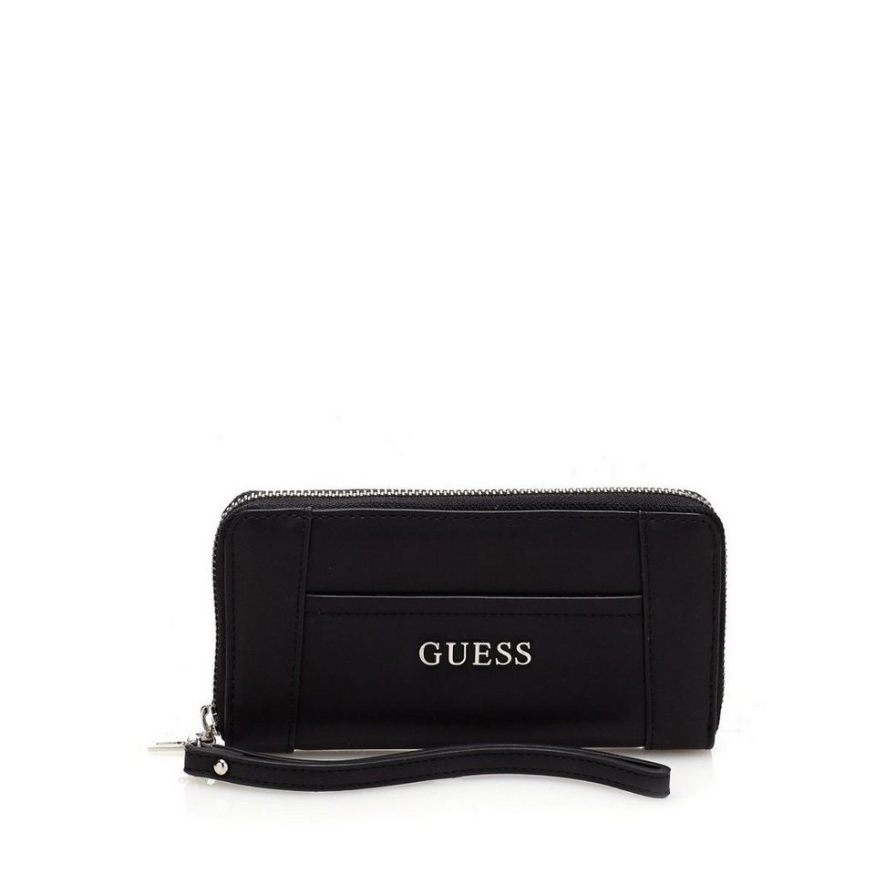 Guess GROSSES PORTEMONNAIE DELANEY in Schwarz