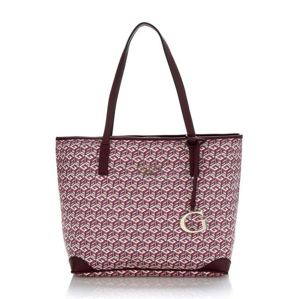 Guess Logo-Shopper G Cube in Bordeaux