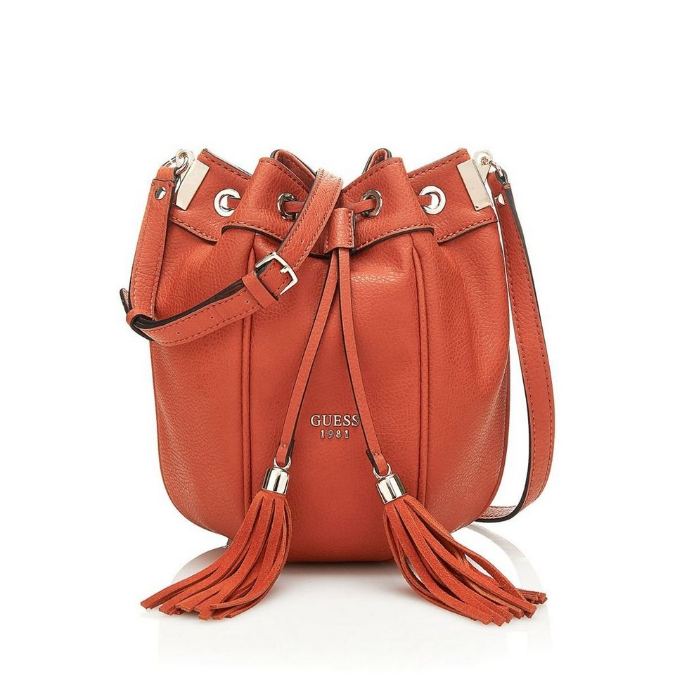 Guess BEUTELTASCHE SOLENE MIT QUASTEN in Orange
