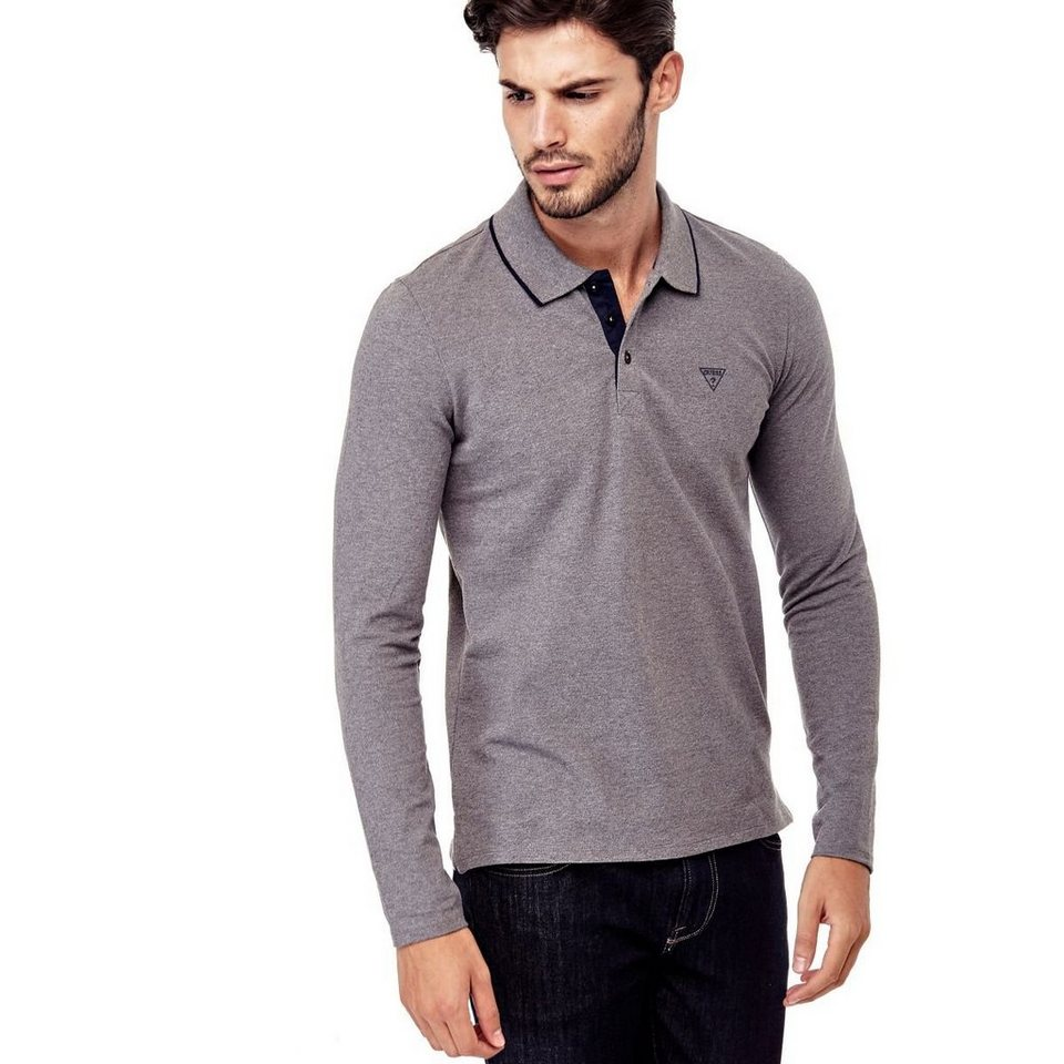 Guess POLOSHIRT BAUMWOLLSTRETCH in Grau
