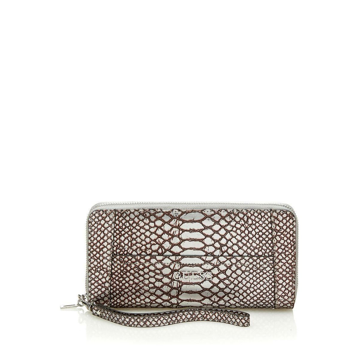 Guess PORTEMONN. DELANEY PYTHON METALLIC