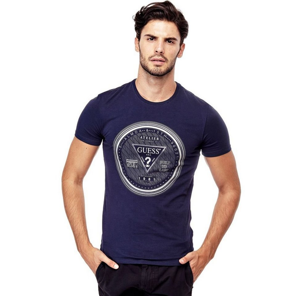 Guess T-SHIRT MIT LOGO in Blau