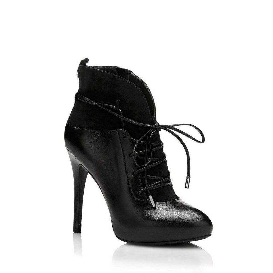Guess ANKLE BOOT SIDELIA AUS LEDER in Schwarz